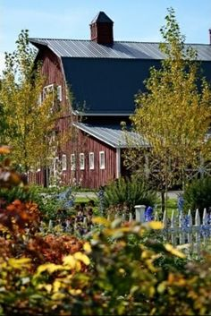 Burgundy Barn In Pretty Setting     .....rh