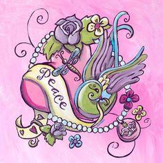 Tattoo Heart Canvas Art