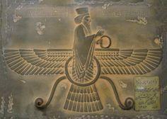 Farvahar stone carving  #Achaemenids