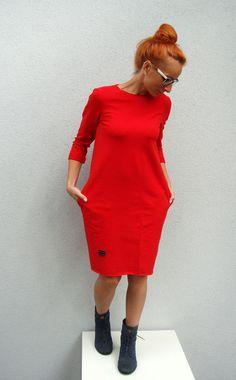 Sukienka Mamma Czerwona - millupa - Sukienki dresowe