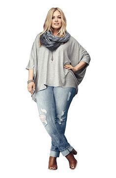 Plus Size Jeans For Curvy Women (2) maybe a different pair of shoes but overall cute outfit