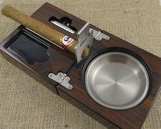 Posacenere per sigari personalizzati con ghigliottina Tagliasigari - regali per gli uomini - posacenere - regali per il nonno