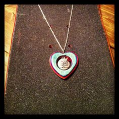 Sk8 heart for my wife skateboard jewelry