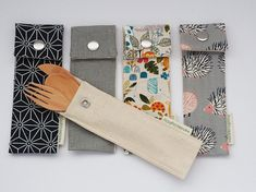 Cutlery Pouch without Cutlery - BYO your own utensils - 2 sizes - Dagmar - Cutlery Pouch without Cutlery - BYO your own utensils - 2 sizes Zero Waste Cutlery Pouch without Cutlery - BYO your own utensils - 2 sizes - Fabric Bags, Linen Fabric, Reusable Things, Costura Diy, Cutlery Holder, Giraffe Print, Free Baby Stuff, Cotton Bag, Learn To Sew