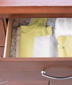 If fabric-softener sheets make your clothes smell nice in the dryer, just think about what they could do in your dresser. Slip a few fresh ones between folded clothes