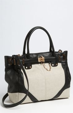Rachel Zoe Leather + Canvas Tote