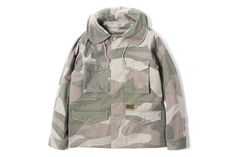 Image of Maiden Noir Military Field Jacket Beige Camo