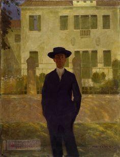 FELICE CASORATI, Ritratto di Camillo Luigi Bellisai, 1906