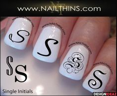 2017 Incredible Monogram Nail Stickers You Will Fall For