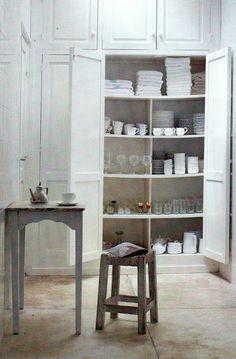 White with old doors. : White with old doors. Deco Nature, Interior Decorating, Interior Design, Decorating Ideas, Decor Ideas, Old Doors, Stone Flooring, Home And Deco, Interior Exterior