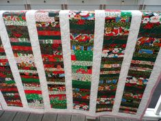 Christmas Quilt  Baby Quilt  Patchwork Quilt  by Nanasewingroom