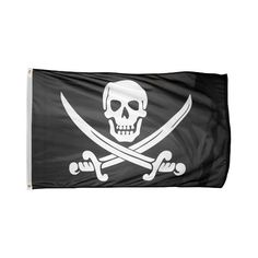 US Flag Store Printed Polyester Pirate Jack Rackham Flag, 3 by 5-Feet (9.96 CAD) ❤ liked on Polyvore featuring outdoor