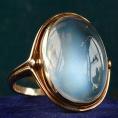 Moonstone bezel antique ring