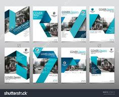 Blue Fold Set Technology Annual Report Brochure Flyer Design Template Vector, Leaflet Cover Presentation Abstract Geometric…