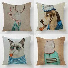 Cute-Animal-Home-Decor-Cotton-Linen-Pillow-Case-Sofa-Waist-Throw-Cushion-Cover