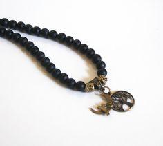 Men's Necklace  Men's Jewelry  Matte black by FerozasjewelryForMen