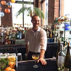 Eric one of our many talented bartenders showing off his Hepcat cocktail