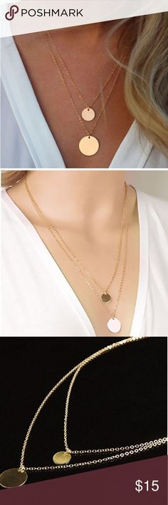 Layered Necklace NWT perfect for everyday or a special event. Jewelry Necklaces