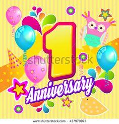 First Year Anniversary Celebration Design. - #anniversary #oneyear