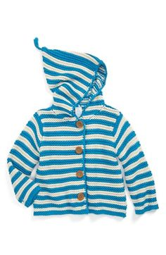 Stem Baby Organic Cotton Hooded Cardigan (Baby Boys) | Nordstrom