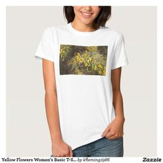 Yellow Flowers Women's Basic T-Shirt