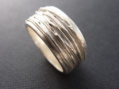 Art clay silver ring made by Alex Atelier in Australia.