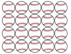 Baseball or softball cupcake decorations for a baseball or softball birthday party, team party, or baby shower. Happy Birthday Baseball, Softball Birthday Parties, Softball Party, Sports Party, Baseball Treats, Baseball Cookies, Baseball Gifts, Baseball Memes, Baseball Scores