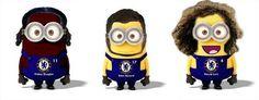 Chelsea FC Minions : Drogba, Hazard, Luiz :D