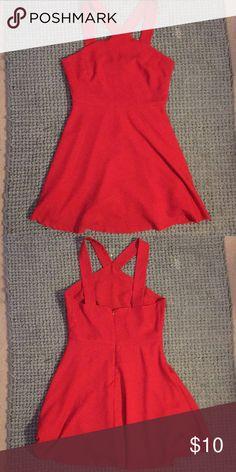Red Mini Skater Dress Red skater dress. Forever 21 Dresses Mini