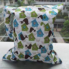 SODIAL(R) Infantil del bebe impermeable de la cremallera del pano reutilizable bolsa de panales (bird y patron house)
