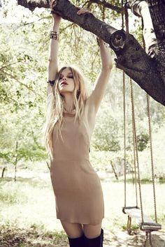 For Love and Lemons Topanga Halter Dress / Camel