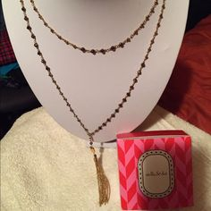 Stella & Dot Gitane Tassel Necklace Chain can be doubled. Tassel can be removed. Beautiful Stella & Dot Jewelry Necklaces