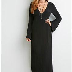 "Black maxi dress forever 21 Brand new never worn. 56"" shoulder to hem Forever 21 Dresses Maxi"