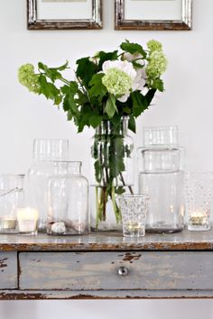 A simple collection of glass containers
