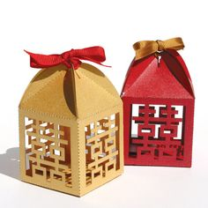 "Custom Order for Miling Laser cut favor box - ""Double Happiness"". $292.12, via Etsy."