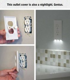 This outlet cover is also a nightlight