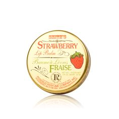 ROSEBUD PERFUME COMPANY:STRAWBERRY LIP BALM IN A TIN.This aromatic lip balm with natural Beeswax and a trade secret blend of strawberry flavors is a favorite of both celebrities and athletes. Strawberry lip balm protects the lips and skin and smells as delicious as strawberry shortcake! #luxola #lipcare #strawberry #lips #beauty