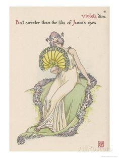 Violet Personified By Walter Crane