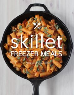 Skillet Freezer Meals - awesome, easy freezer meal ideas to get ahead and make for your family.
