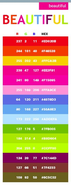 45 Best Css Color Images On Pinterest