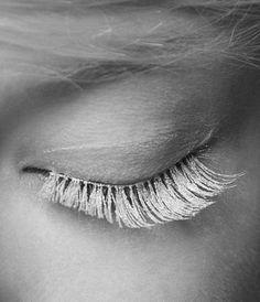 silver eyelash.