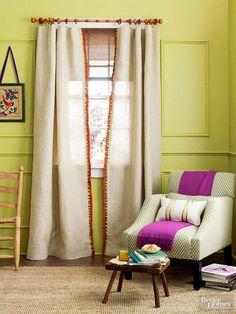 DIY Burlap Curtains