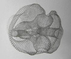 crochet wire sculpture, awesome.