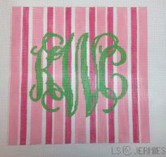 custom monogram pillow canvas - need different colors!