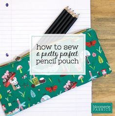 Learn to sew a perfect zippered pencil pouch. Clearly written with lots of photos.