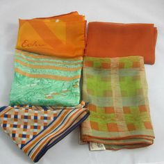 Vintage Scarves Lot 5 Some Silk  Mixed by VintageSouthernPicks