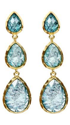 East Hampton Andra Earrings, Aqua by Amrita Singh