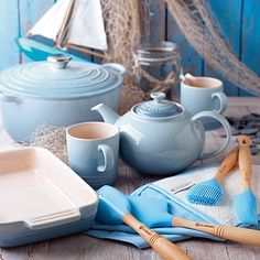 Coastal Blue collection / Le Creuset, have a few bits in this lush colour