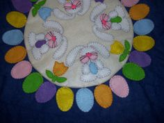felted wool penny rug