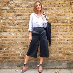 Wearing It Today - boyfriend + culottes